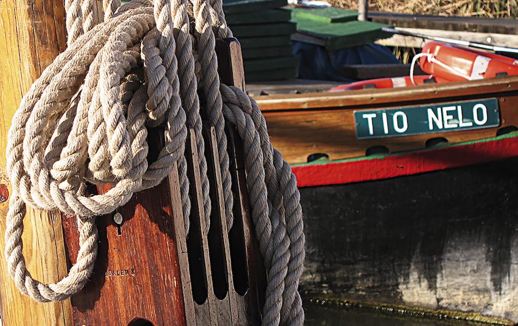Barca de pesca en el Parque Natural de la Albufera de Valencia